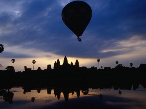 balloon angkor, lotus lodge, siem reap